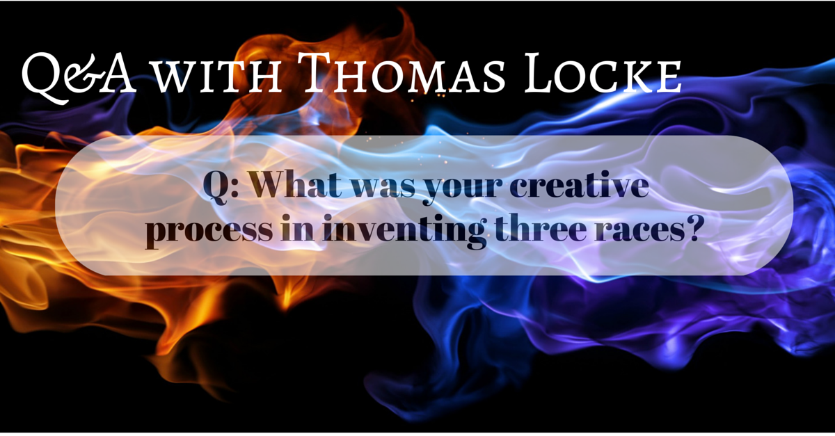 What was your creative process in inventing three races